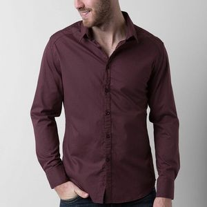 J.B. HOLT The Grant Stretch Shirt - Buckle maroon